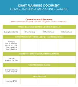 marketing agency goal planning